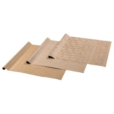 GIVANDE Papier cadeau, naturel/blanc, 3.0x0.7 m