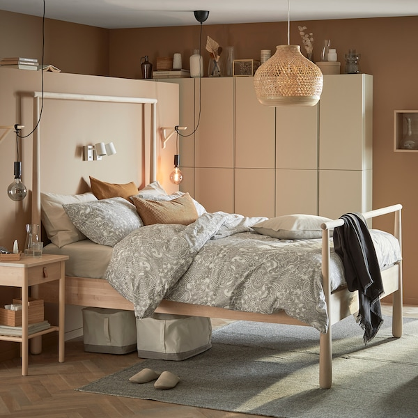 GJÖRA Cadre de lit, bouleau/Leirsund, 140x200 cm
