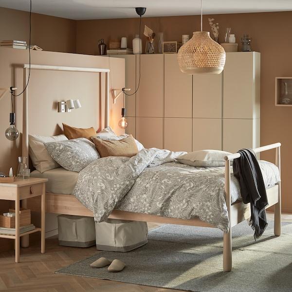 GJÖRA Cadre de lit, bouleau/Lönset, 160x200 cm