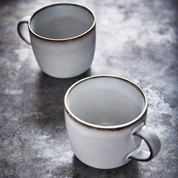 GLADELIG Mug, gris, 37 cl