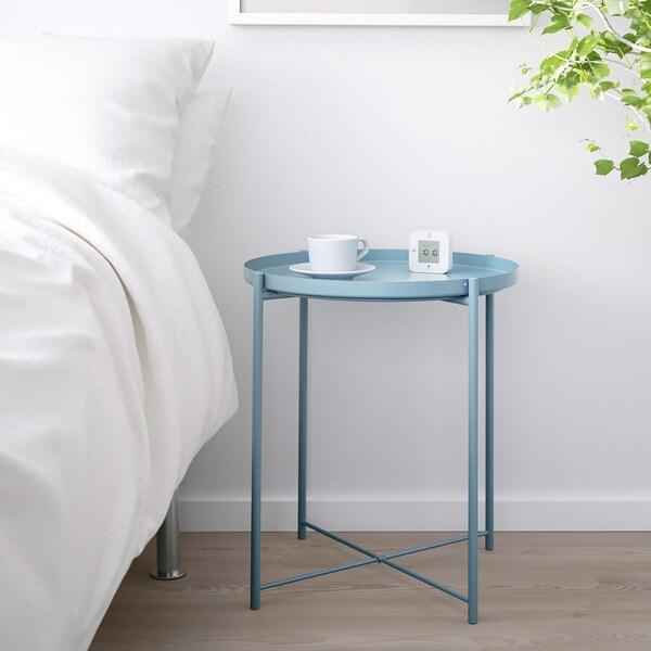 GLADOM Table/plateau, bleu, 45x53 cm