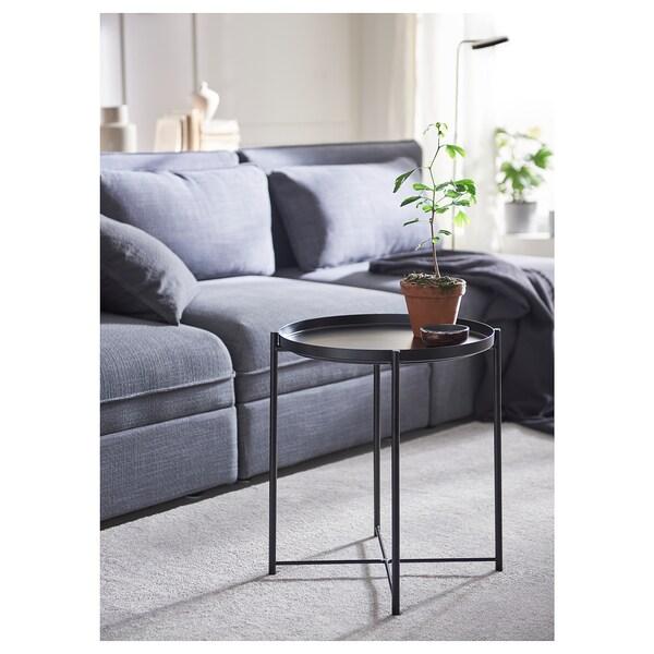GLADOM table/plateau noir 53 cm 45 cm