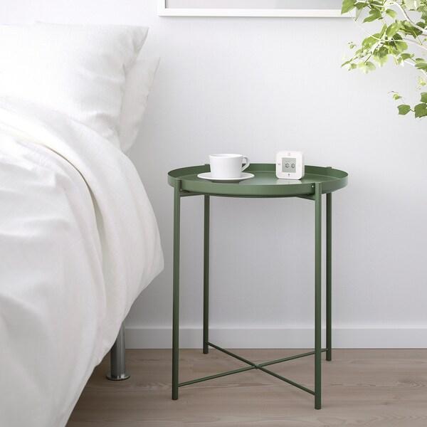 Gladom Table Plateau Vert Fonce 45x53 Cm Ikea