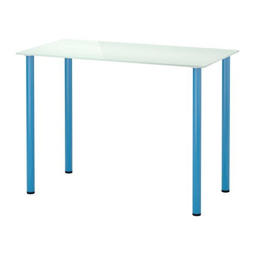 glasholm adils table verre blanc bleu ikea. Black Bedroom Furniture Sets. Home Design Ideas