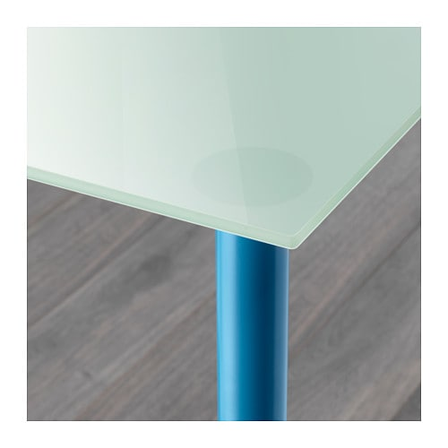 Table bois ikea for Table ilot extensible