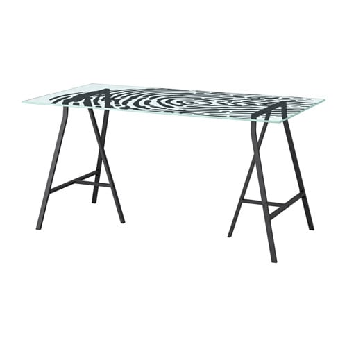 glasholm lerberg table verre motif empreinte gris ikea. Black Bedroom Furniture Sets. Home Design Ideas