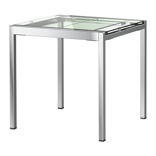 Table verre ikea extensible for Table verre extensible