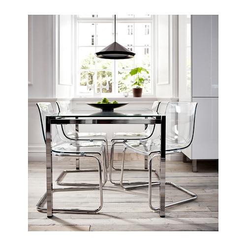 Salle manger moderne salle manger modernes - Table ronde blanche ikea ...