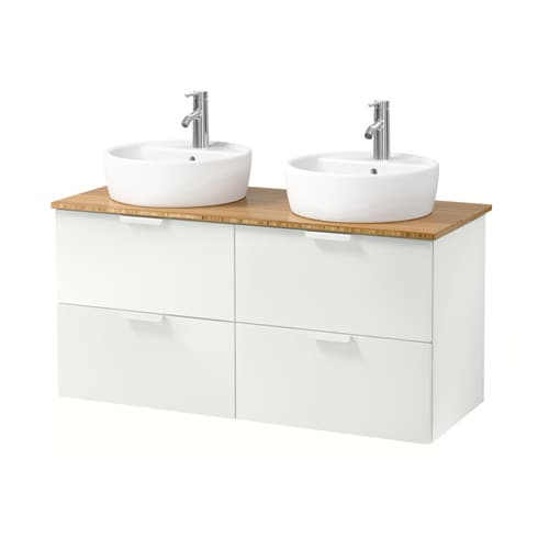 godmorgon aldern t rnviken meuble lavabo av lavabo poser 45 blanc bambou 122x49x74 cm ikea. Black Bedroom Furniture Sets. Home Design Ideas