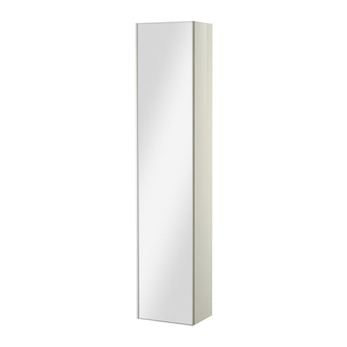 godmorgon armoire avec porte miroir brillant blanc ikea. Black Bedroom Furniture Sets. Home Design Ideas