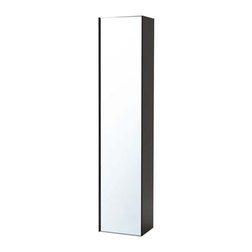 godmorgon armoire avec porte miroir brillant gris ikea. Black Bedroom Furniture Sets. Home Design Ideas