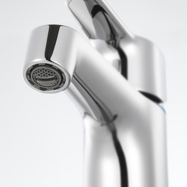 GODMORGON / BRÅVIKEN Meuble lavabo 4tir, brillant blanc/mitigeur lavabo Brogrund, 120x48x68 cm