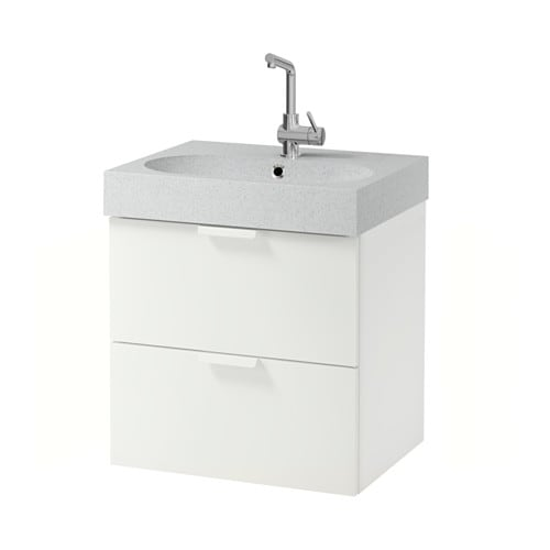 godmorgon br viken meuble lavabo 2tir blanc gris clair ikea. Black Bedroom Furniture Sets. Home Design Ideas