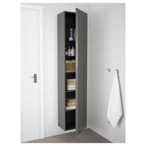GODMORGON Colonne, brillant gris, 40x32x192 cm
