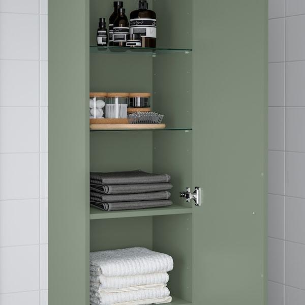 GODMORGON Colonne, Gillburen gris vert, 40x32x192 cm