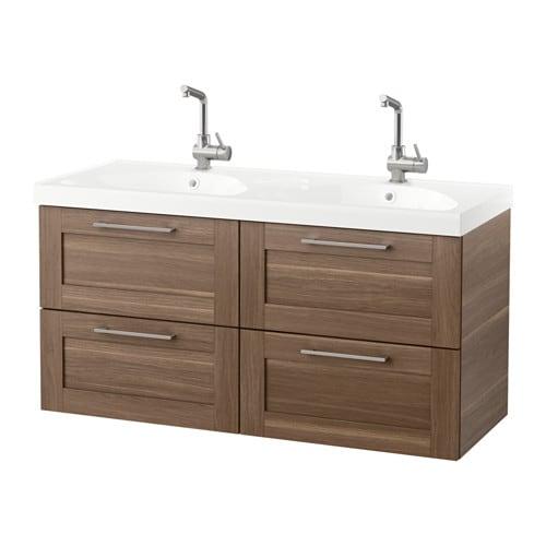 Godmorgon edeboviken meuble lavabo 4tir motif noyer ikea - Lavello bagno ikea ...
