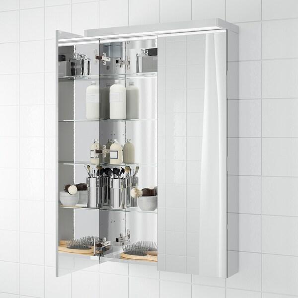 GODMORGON Meuble à miroir 2 portes, 60x14x96 cm
