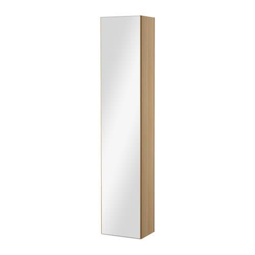 Godmorgon armoire avec porte miroir effet ch ne blanchi for Armoire miroir ikea