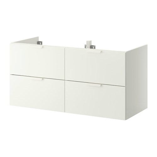 Godmorgon meuble lavabo 4tir blanc 120x47x58 cm ikea for Meuble lavabo blanc