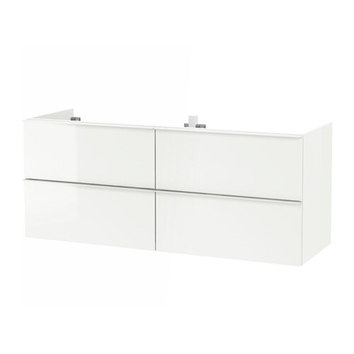 godmorgon meuble lavabo 4tir brillant blanc 140x47x58 cm ikea. Black Bedroom Furniture Sets. Home Design Ideas