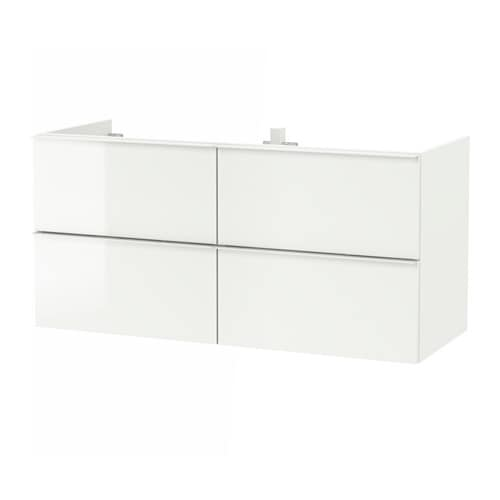 godmorgon meuble lavabo 4tir brillant blanc 120x47x58 cm ikea. Black Bedroom Furniture Sets. Home Design Ideas