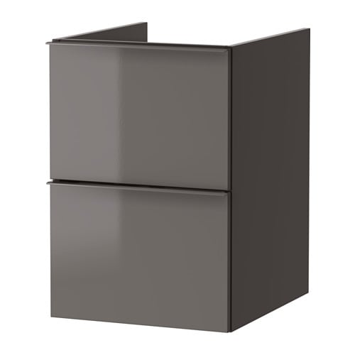godmorgon meuble lavabo 2tir brillant gris 40x47x58 cm ikea. Black Bedroom Furniture Sets. Home Design Ideas