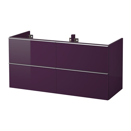 godmorgon meuble lavabo 4tir brillant prune 120x47x58 cm ikea. Black Bedroom Furniture Sets. Home Design Ideas