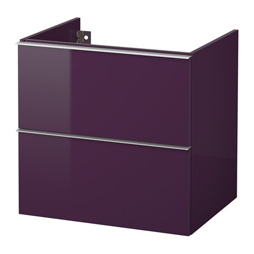 godmorgon meuble lavabo 2tir brillant prune 60x47x58 cm ikea. Black Bedroom Furniture Sets. Home Design Ideas