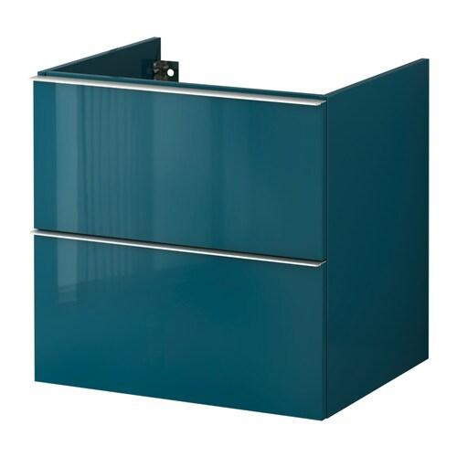godmorgon meuble lavabo 2tir brillant turquoise 60x47x58 cm ikea. Black Bedroom Furniture Sets. Home Design Ideas