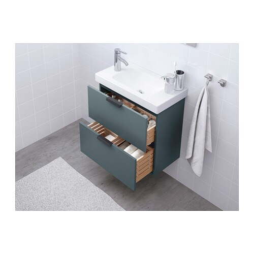 godmorgon meuble lavabo 2tir gris turquoise 60x30x58 cm ikea. Black Bedroom Furniture Sets. Home Design Ideas