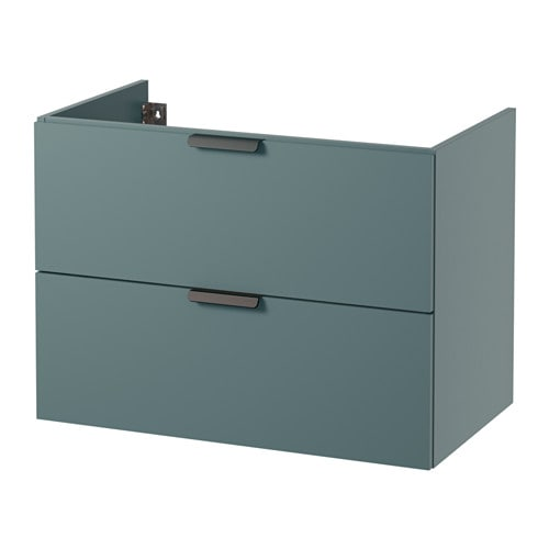 Godmorgon meuble lavabo 2tir gris turquoise 80x47x58 cm for Prix salle de bain ikea