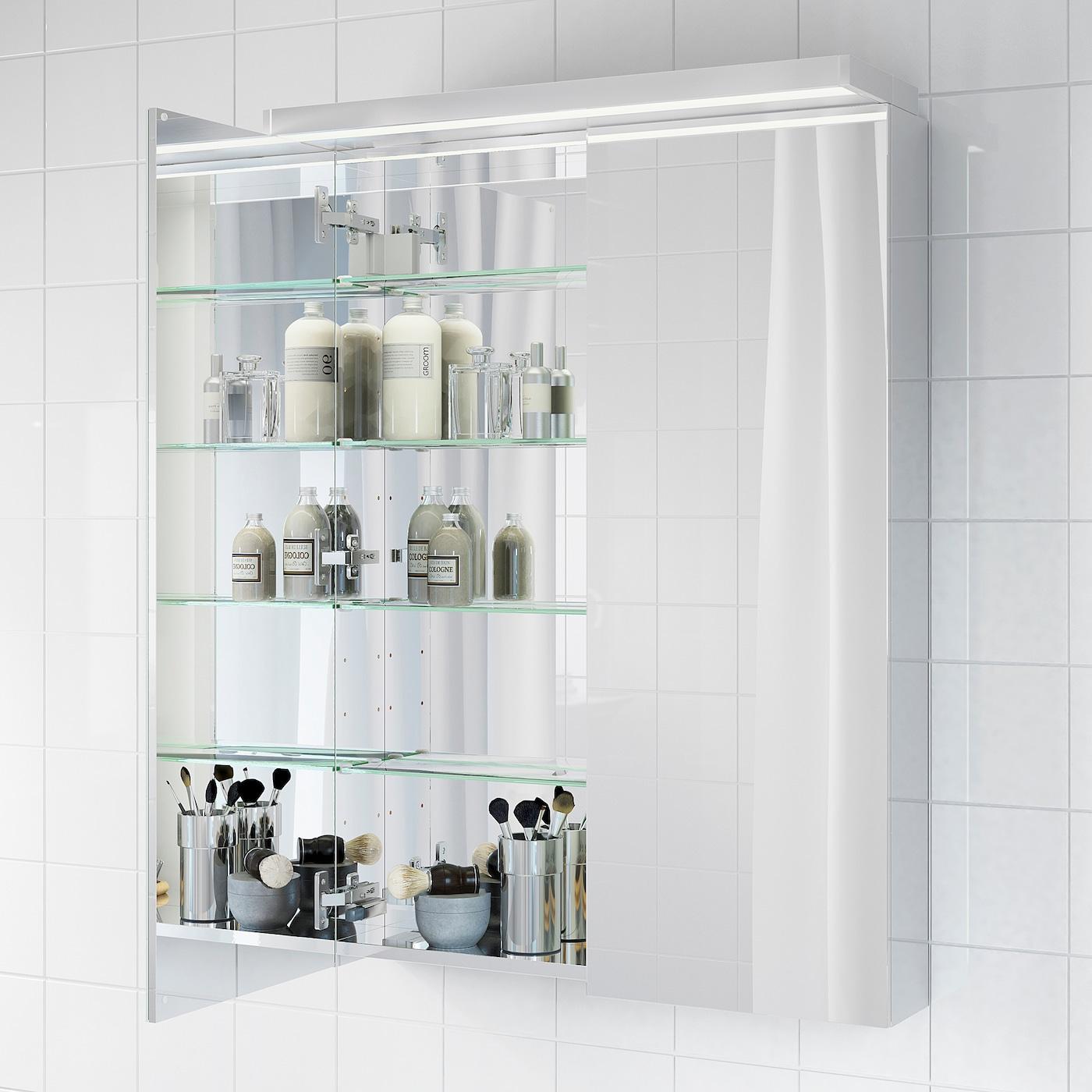 GODMORGON Meuble à miroir 18 portes 18x18x18 cm