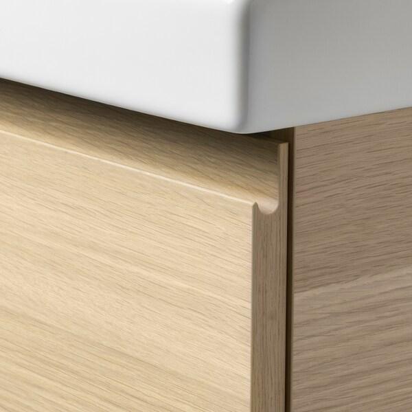 GODMORGON / ODENSVIK Meuble lavabo 2tir, effet chêne blanchi/Dalskär mitigeur lavabo, 103x49x64 cm