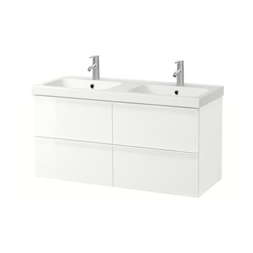 godmorgon odensvik meuble lavabo 4tir brillant blanc ikea. Black Bedroom Furniture Sets. Home Design Ideas