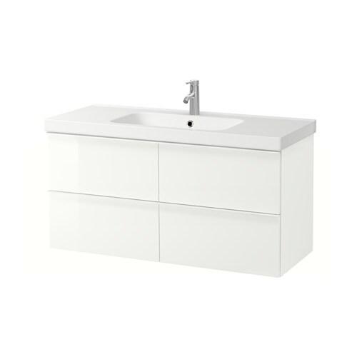Godmorgon Odensvik Meuble Lavabo 4tir Brillant Blanc Ikea