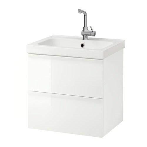 Godmorgon / Odensvik Meuble Lavabo 2Tir - Blanc - Ikea