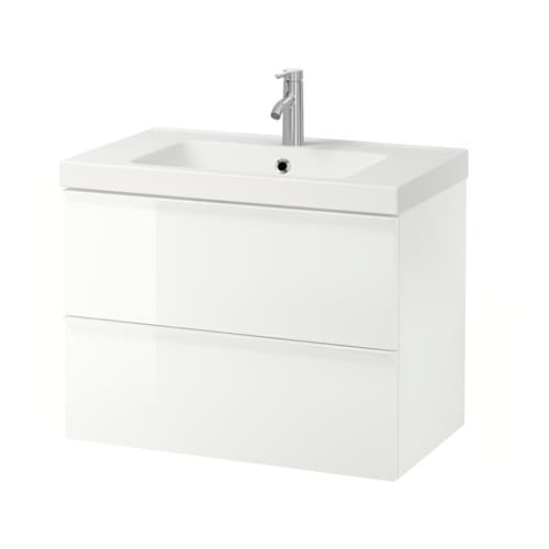 godmorgon odensvik meuble lavabo 2tir brillant blanc ikea. Black Bedroom Furniture Sets. Home Design Ideas