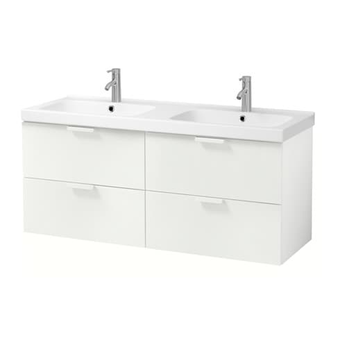 godmorgon odensvik meuble lavabo 4tir blanc 143x49x64. Black Bedroom Furniture Sets. Home Design Ideas
