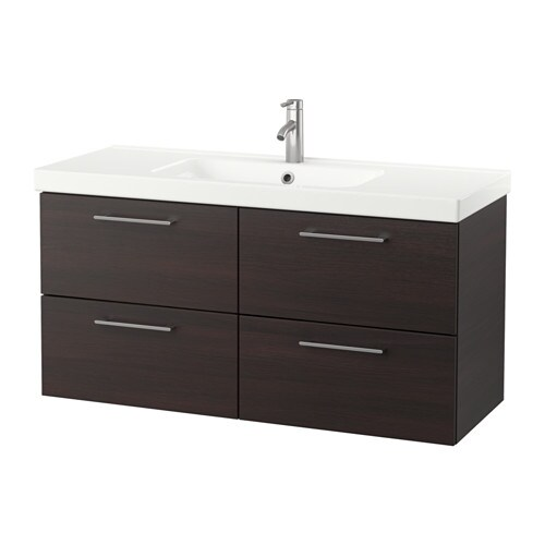 godmorgon odensvik meuble lavabo 4tir brun noir ikea. Black Bedroom Furniture Sets. Home Design Ideas