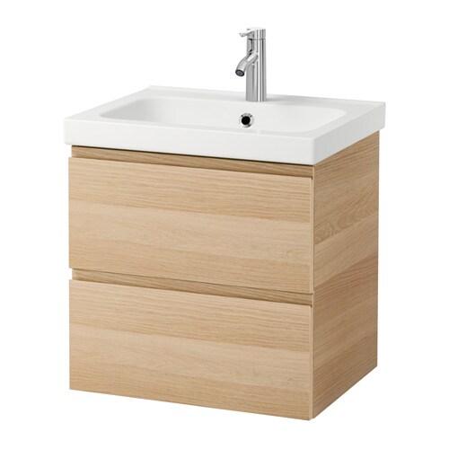 Godmorgon odensvik meuble lavabo 2tir effet ch ne for Meuble salle de bain avec lavabo