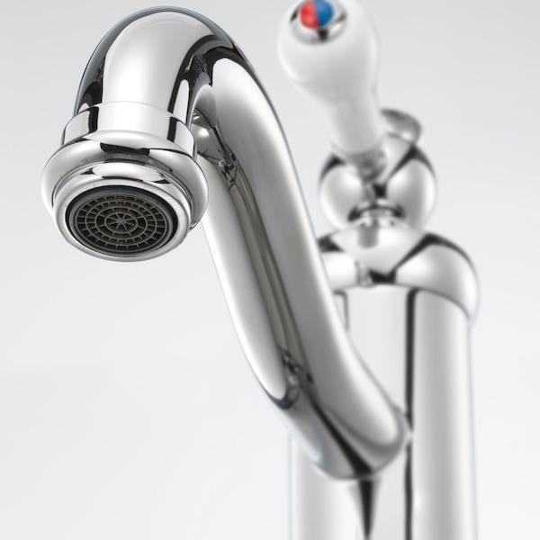 GODMORGON / RÄTTVIKEN Meuble lavabo 2tir, Kasjön blanc/Hamnskär mitigeur lavabo, 82x49x68 cm