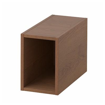 GODMORGON Rangement ouvert, Gillburen motif frêne effet brun moyen, 20x45x29 cm