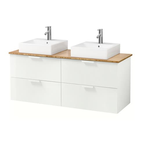 godmorgon tolken t rnviken meuble lavabo av lav poser 45x45 bambou blanc ikea. Black Bedroom Furniture Sets. Home Design Ideas