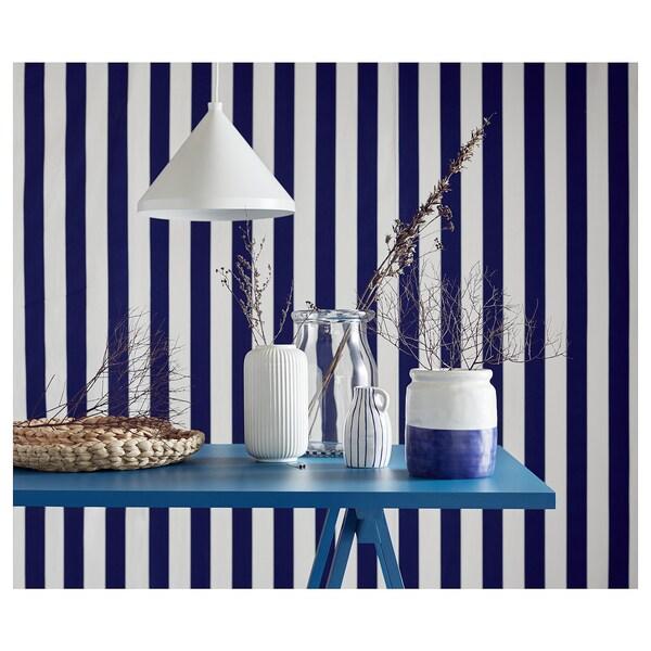 GODTAGBAR vase céramique blanc/bleu 14 cm 9 cm