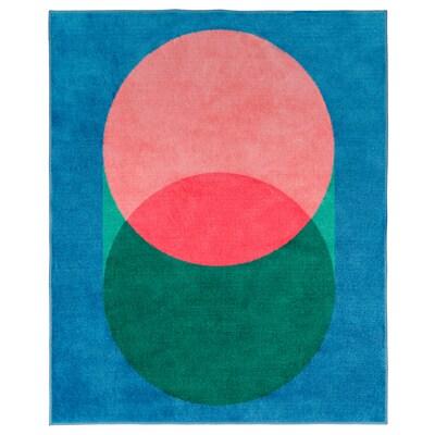 GRACIÖS tapis rose/bleu 160 cm 133 cm 2.13 m²