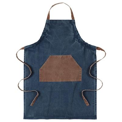 GRILLTIDER tablier bleu/brun 92 cm 69 cm