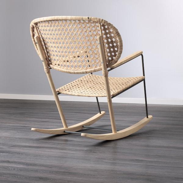 GRÖNADAL Fauteuil à bascule, gris/naturel, matériau durable - IKEA