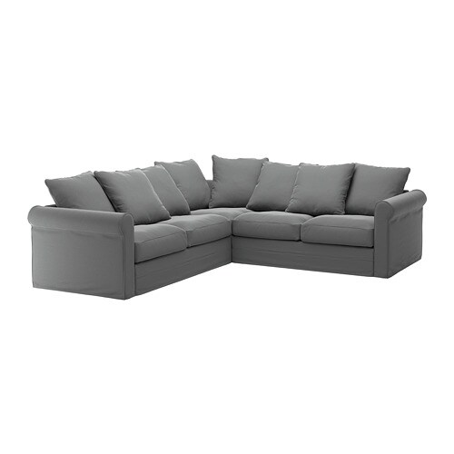 Gr nlid canap d 39 angle 4 places ljungen gris moyen ikea - Ikea canape d angle ...