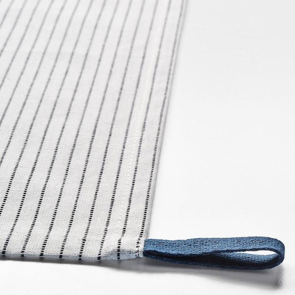 GRUPPERA Serviette de table, blanc/noir, 33x33 cm