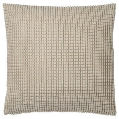 GULLKLOCKA Housse de coussin, beige, 50x50 cm
